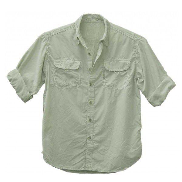 Camisa de Pesca Ballyhoo Masculina Crisis Areia