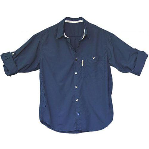 Camisa de Pesca Ballyhoo Masculina Pow Azul Marinho