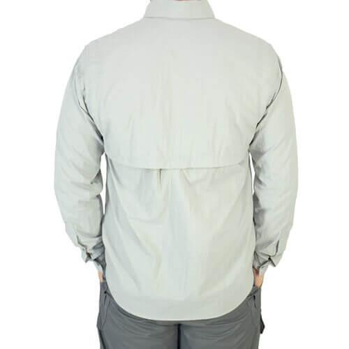 Camisa De Pesca Mtk Sky Platina Com Proteção Solar 50+ Fps