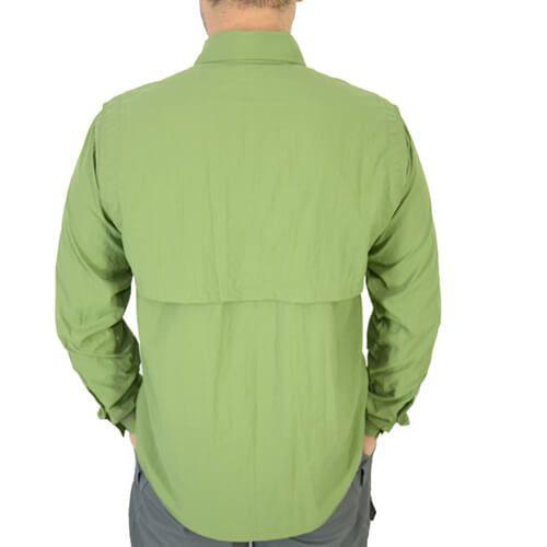 Camisa De Pesca Mtk Sky Verde Com Proteção Solar 50+ Fps