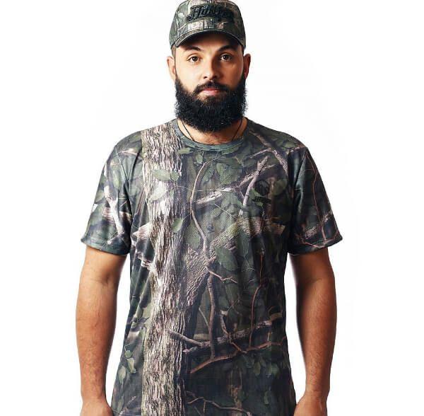 Camiseta Camuflada Amazônica Manga Curta
