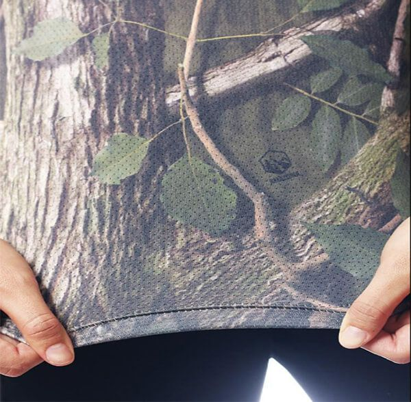Camiseta Baby Look Camuflada Amazônica Manga Longa Feminina