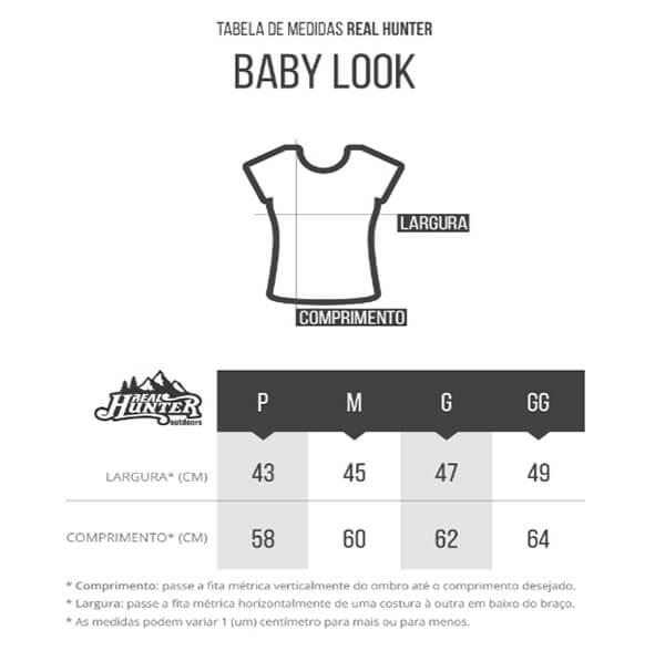 Camiseta Baby Look Camuflada Exercito Brasileiro Manga Curta Feminina