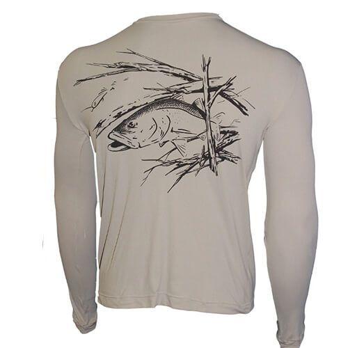 Camiseta Ballyhoo Catch Release com Proteção Solar Filtro UV Areia