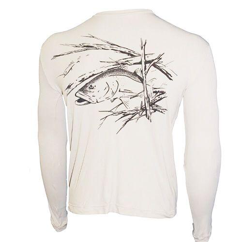 Camiseta Ballyhoo Catch Release com Proteção Solar Filtro UV Branco