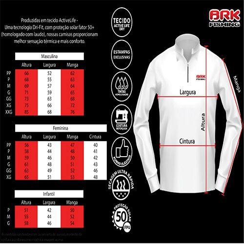 Camiseta BRK Black Monster Tucunaré FPU 50+