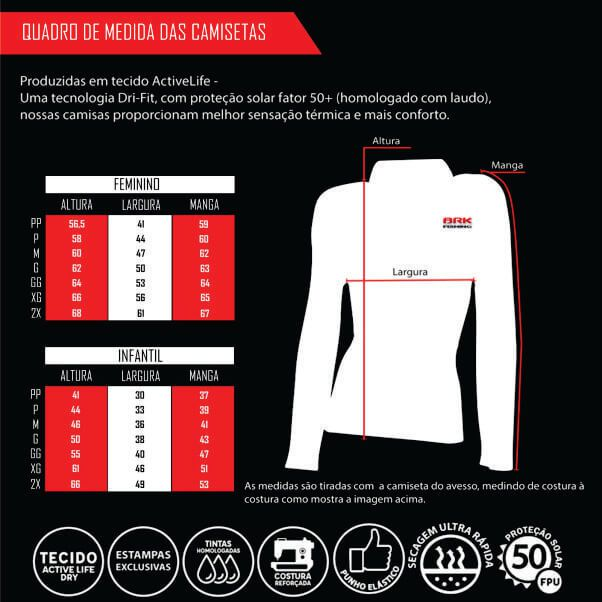 Camiseta BRK Feminina Hunter Serie 02 FPU 50+