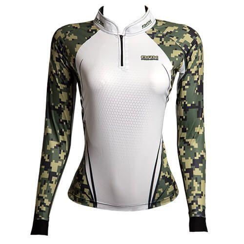 Camiseta BRK Fishing Feminina Military FPU 50+