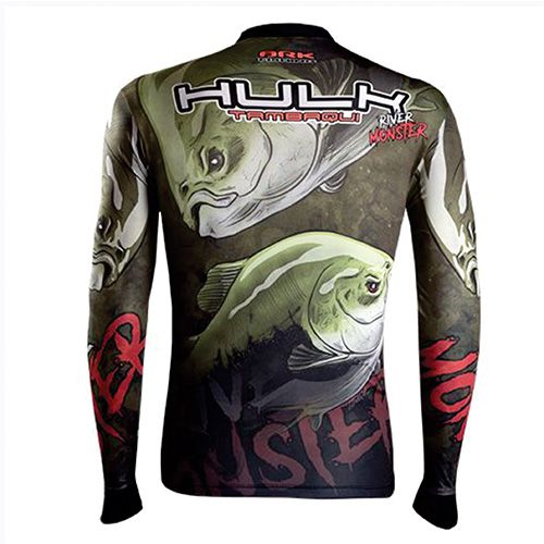 Camiseta BRK Fishing River Monster Hulk Tambaqui FPU 50+