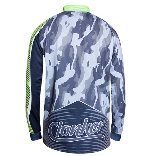Camiseta Clonker Dry Fit Camuflado Preto e Verde