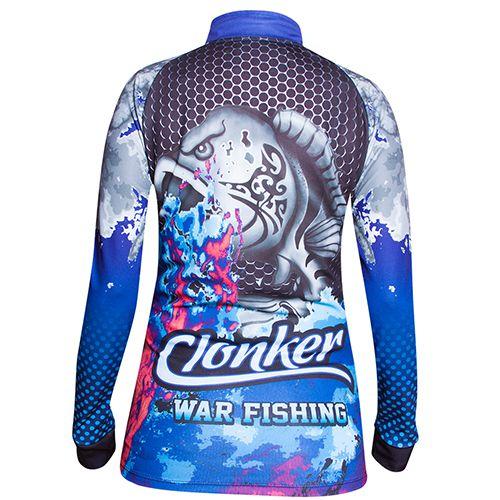 Camiseta Feminina Clonker Tucunaré Azul