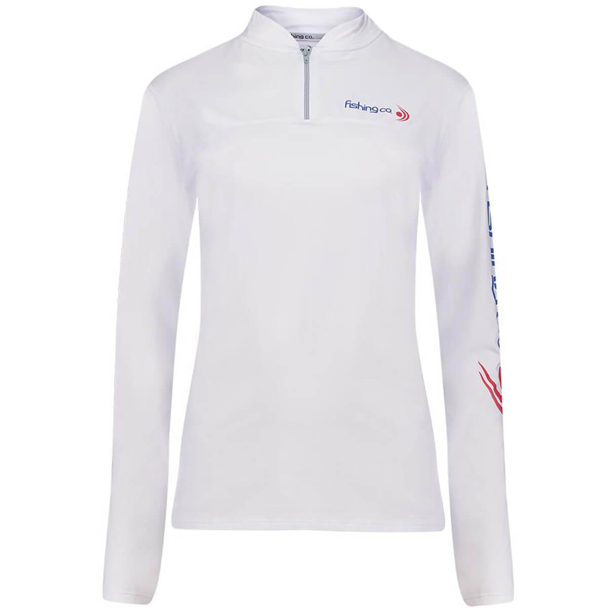 Camiseta Fishing Co com Zíper Branco