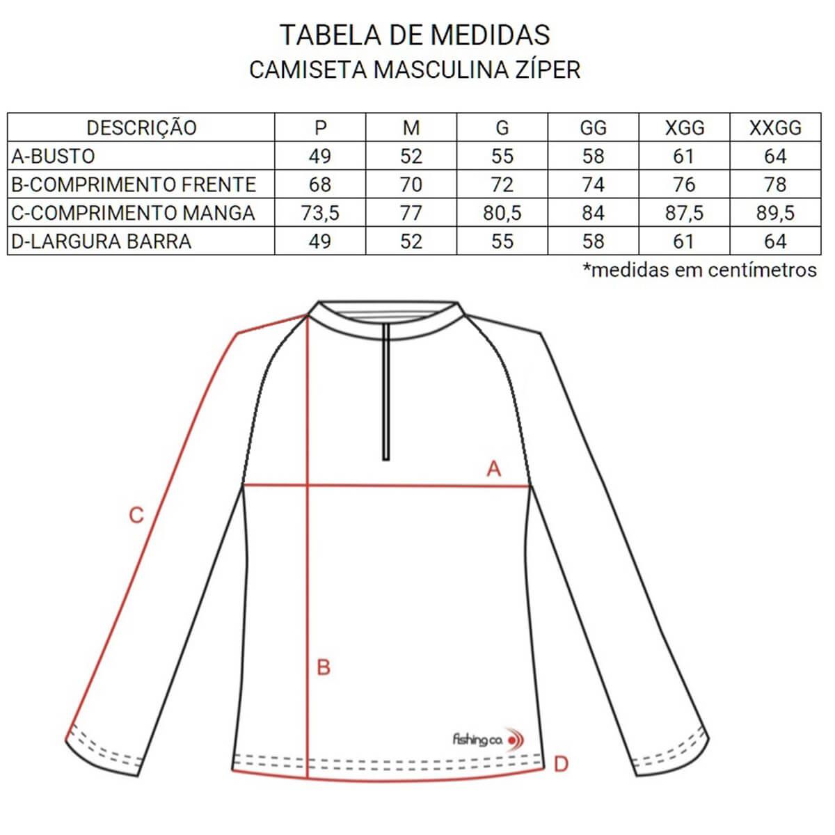 Camiseta Fishing Co com Zíper Mescla