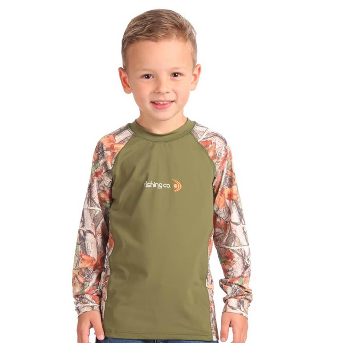 Camiseta Fishing Co Infantil 12 anos Estampada