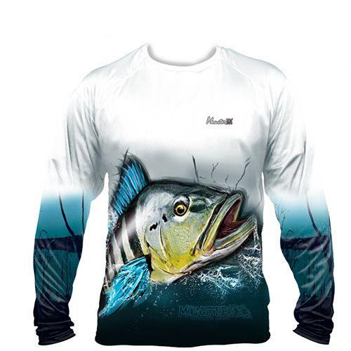 Camiseta Monster 3x Fish Collection Tucunaré Azul