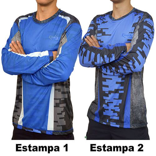Camiseta Mtk Atack D Dupla Face Azul