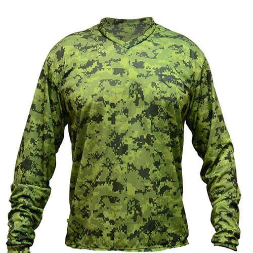 Camiseta MTK Atack V Camuflada Verde