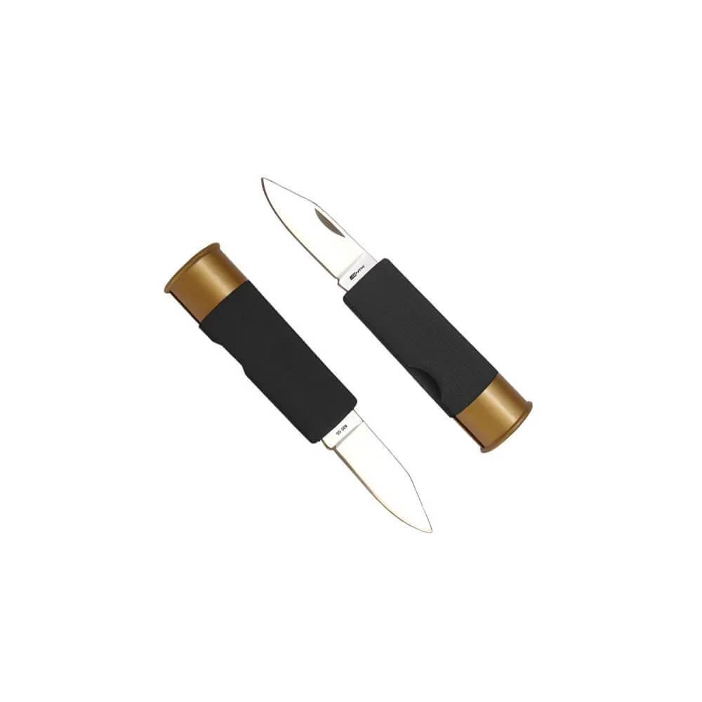 Canivete NTK Tático em formato de cartucho de 12GA Shot