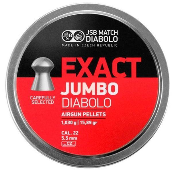 Chumbinho de Caça Exact Jumbo Diabolo 5.5mm (.22) - JSB 250un