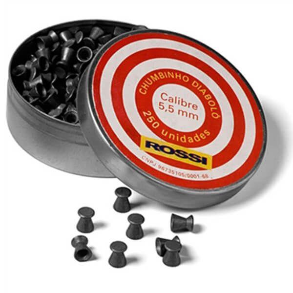 Chumbinho Diabolo Rossi 5,5mm 250un