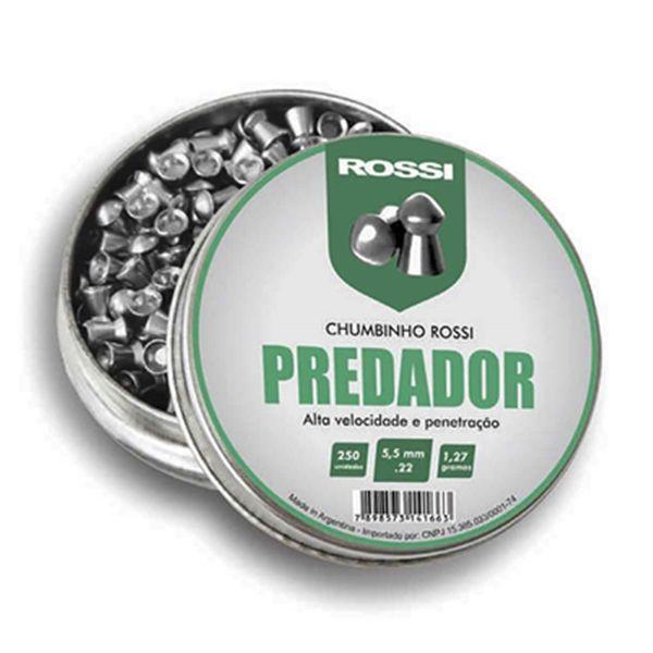 Chumbinho Rossi Predador 5,5mm 250un