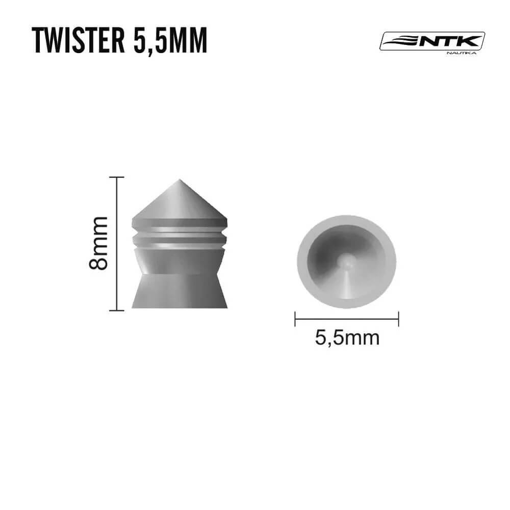 Chumbinho Twister 5,5mm 125pç Nautika