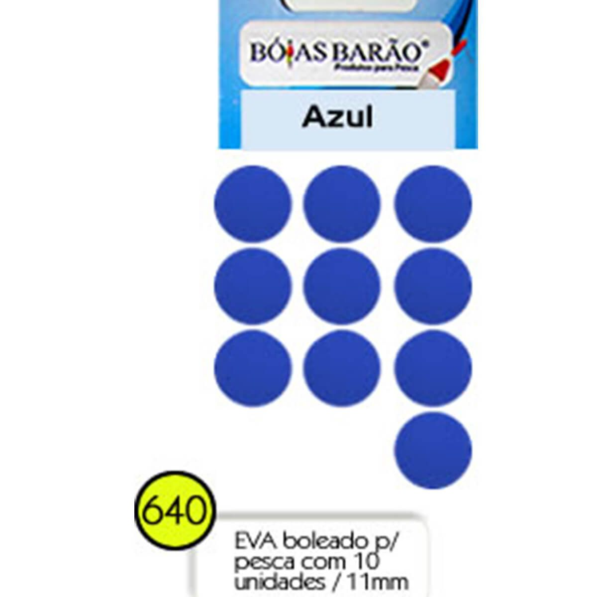 Eva Flutuador Boias Barão 11mm 10 unid - Nº 640