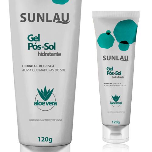 Gel Pós-Sol Hidratante Sunlau com Aloe Vera