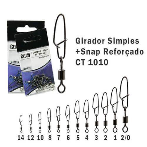 Girador + Snap Celta Reforçado N° 2 85lb 5un