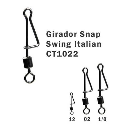 Girador + Snap Celta Swing Italian N° 1/0 59,8kg 5un