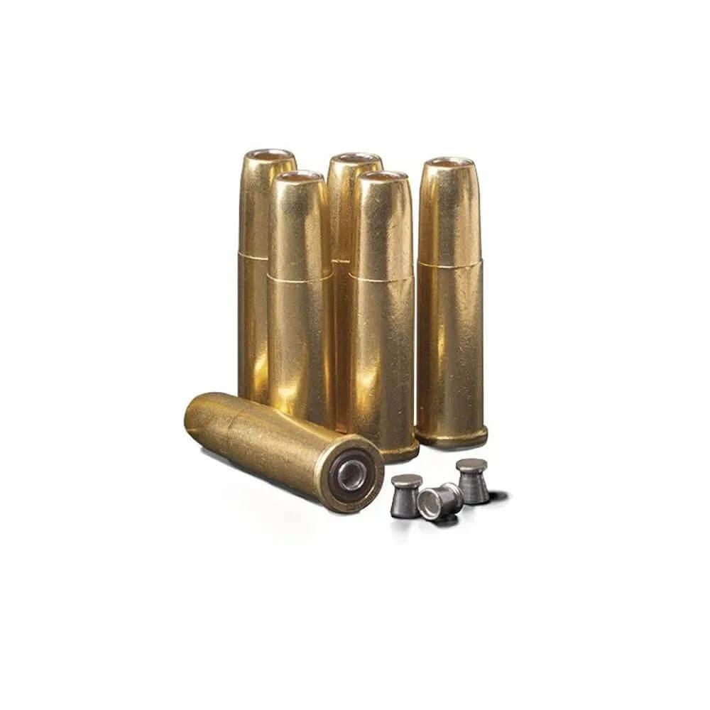 Kit 6 Cápsulas Mag Chumbinho 4.5mm Para Revólver Crosman