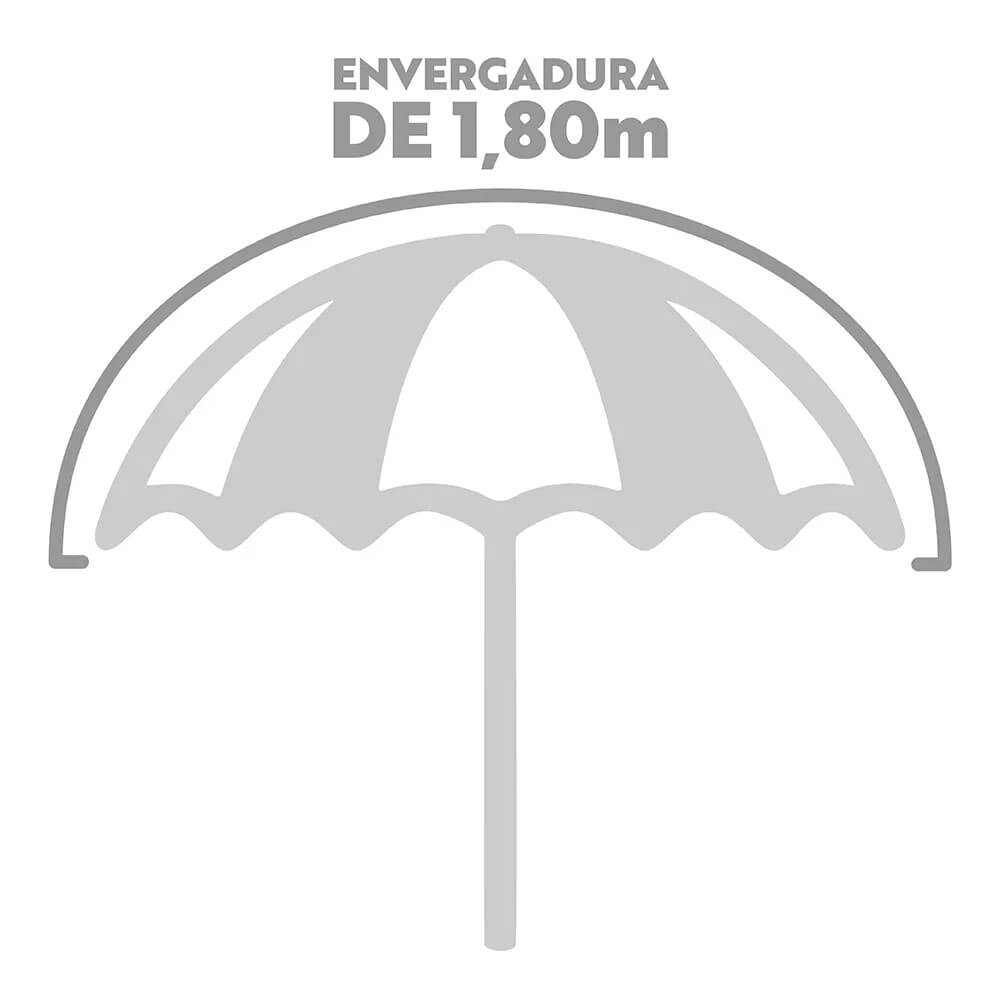 Kit Praia 2 Cadeiras Alta Aço + Guarda Sol 1,80m  - Mor