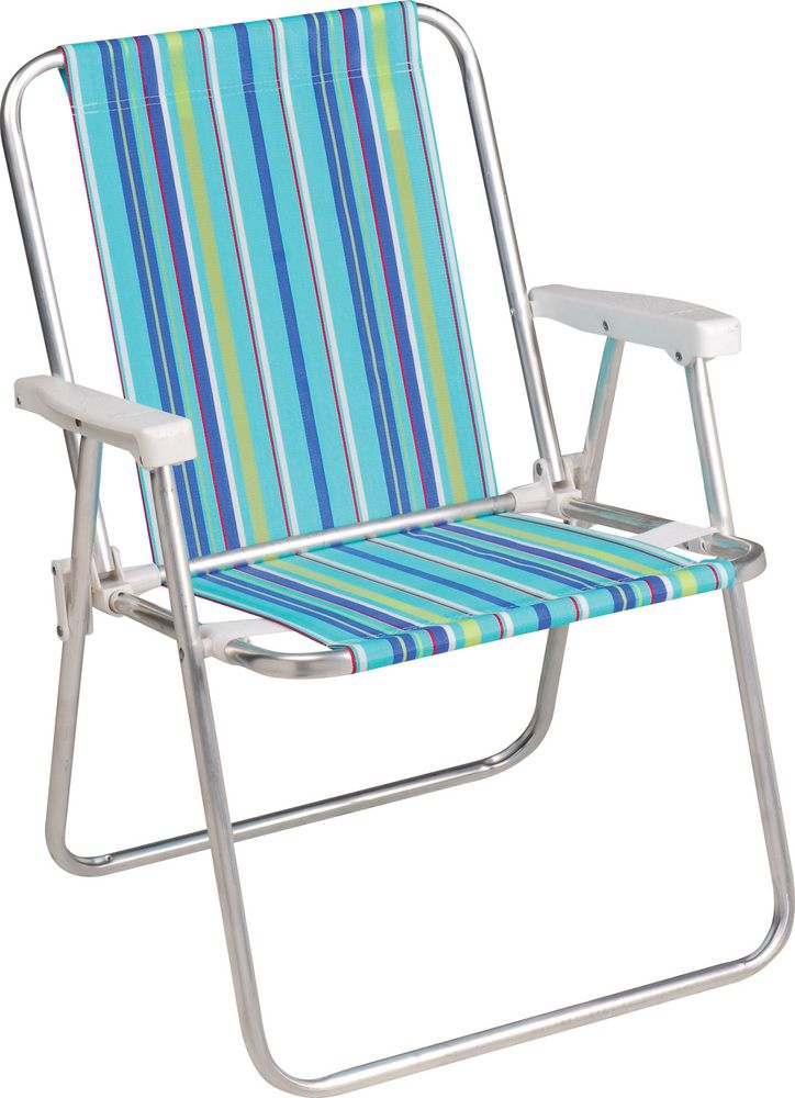 Kit Praia Cadeira de Alumínio Alta Mor + Guarda Sol Scoat 1,80m Mor