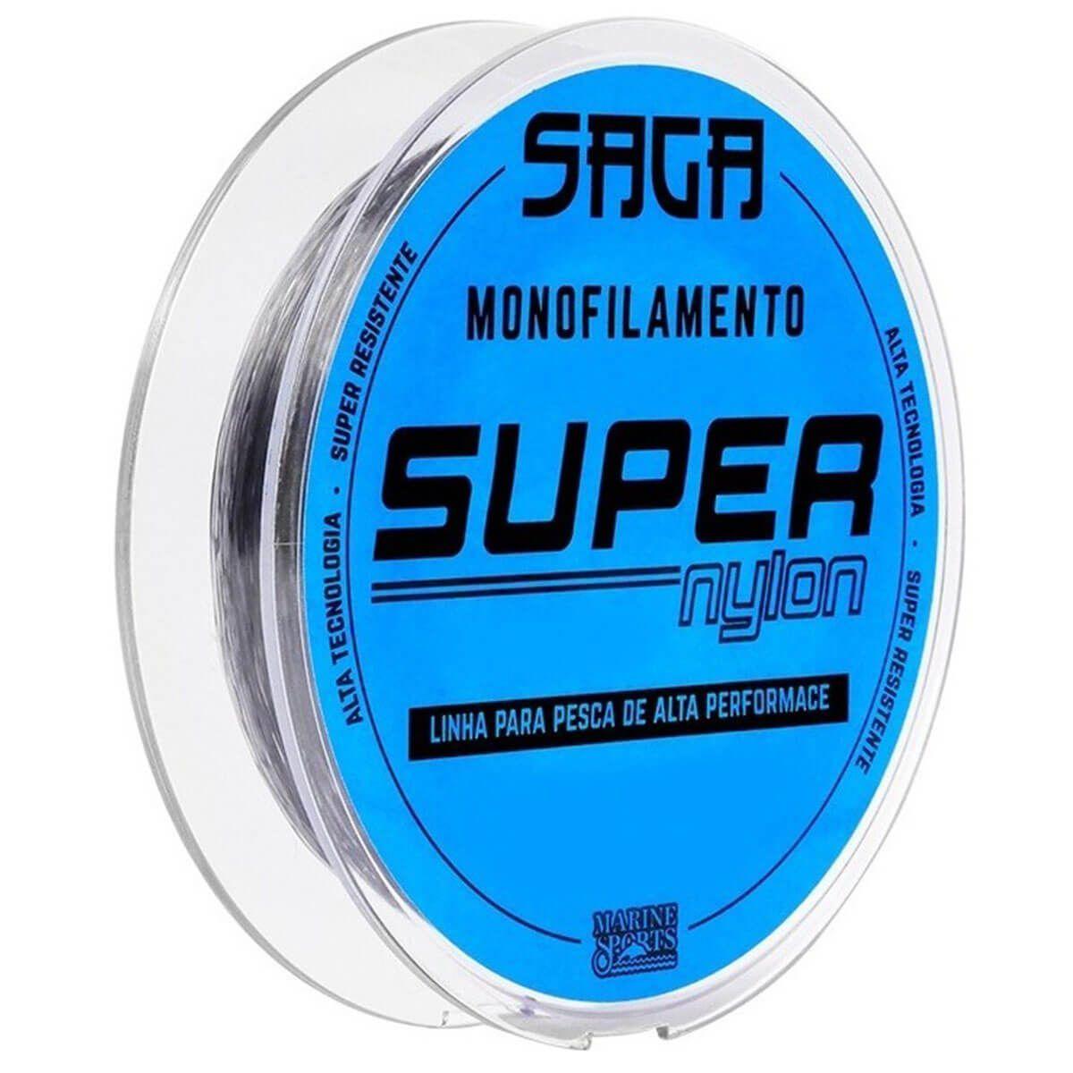 Linha Monofilamento Marine Sports Saga Super Nylon 0,40mm 300m Smoke