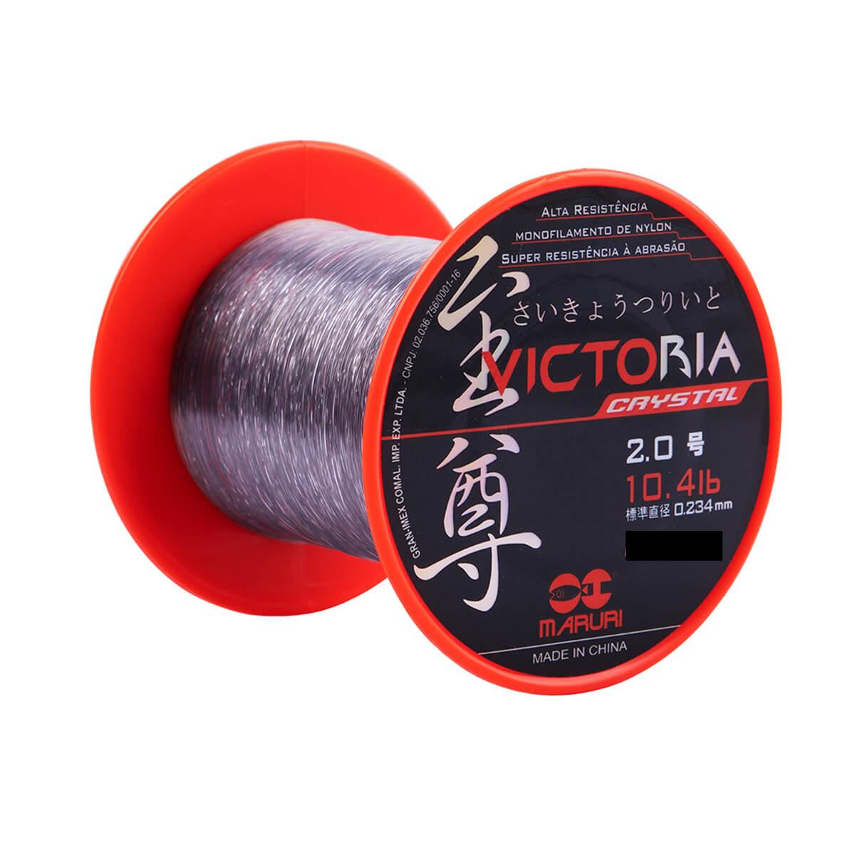 Linha Monofilamento Maruri Victoria Crystal 0,47mm 25,1lb 600m