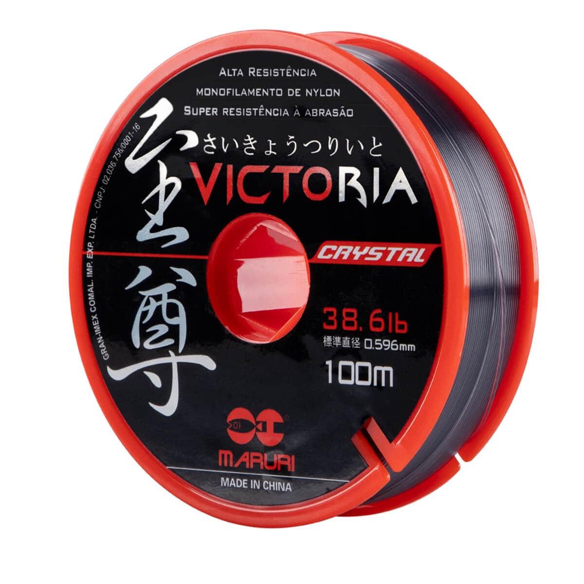 Linha Monofilamento Maruri Victoria Crystal 0,496mm 28lb 100m