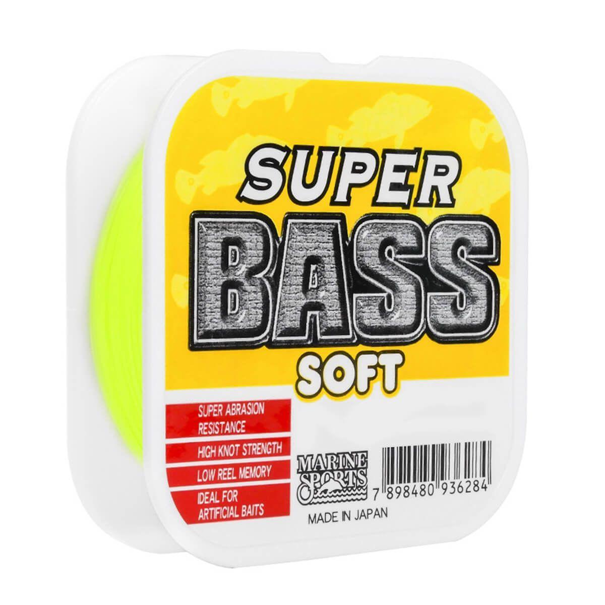 Linha Monofilamento Super Bass Soft Amarela 21lb 0,37mm 250m
