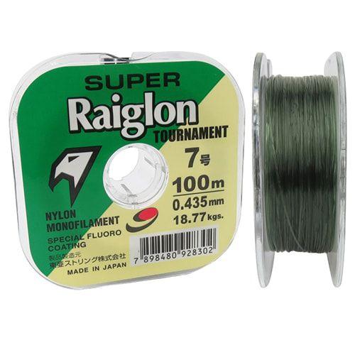 Linha Monofilamento Super Raiglon Tour 0,285mm 17,70lb 8kg 100m