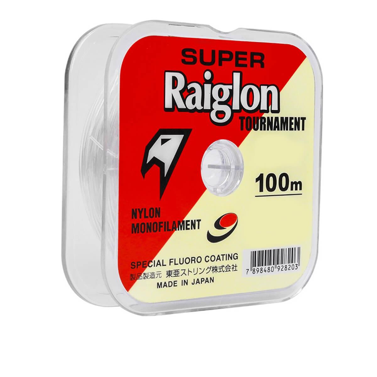 Linha Monofilamento Super Raiglon Tournament Branca  1.0 0,165mm 100m