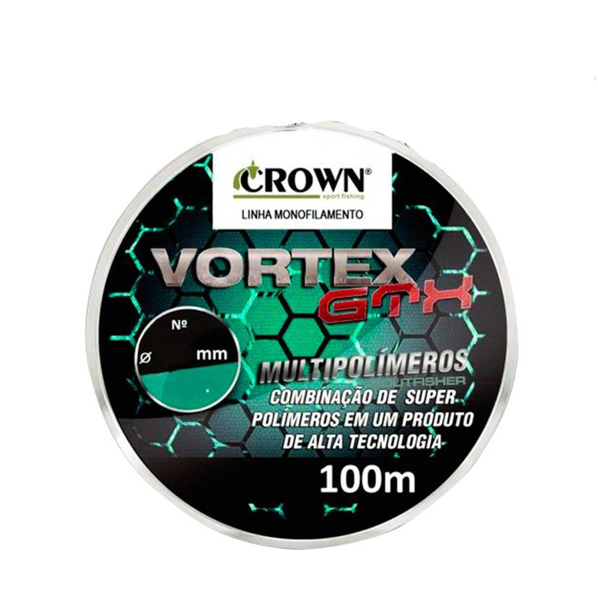 Linha Monofilamento Vortex Gtx 100m 0,40mm Crown
