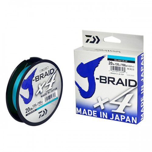 Linha Multifilamento Daiwa J-braid Blue 30lb 0,25mm 270m