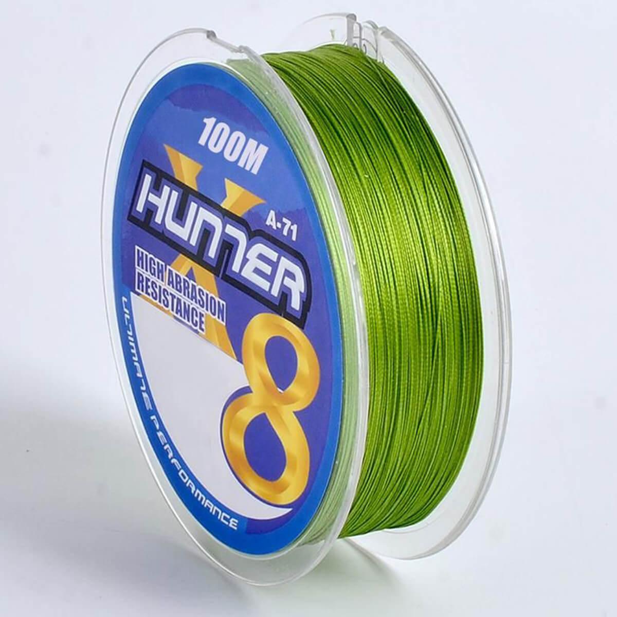 Linha Multifilamento Hunter 8x 0,18mm 7,71kg 100m