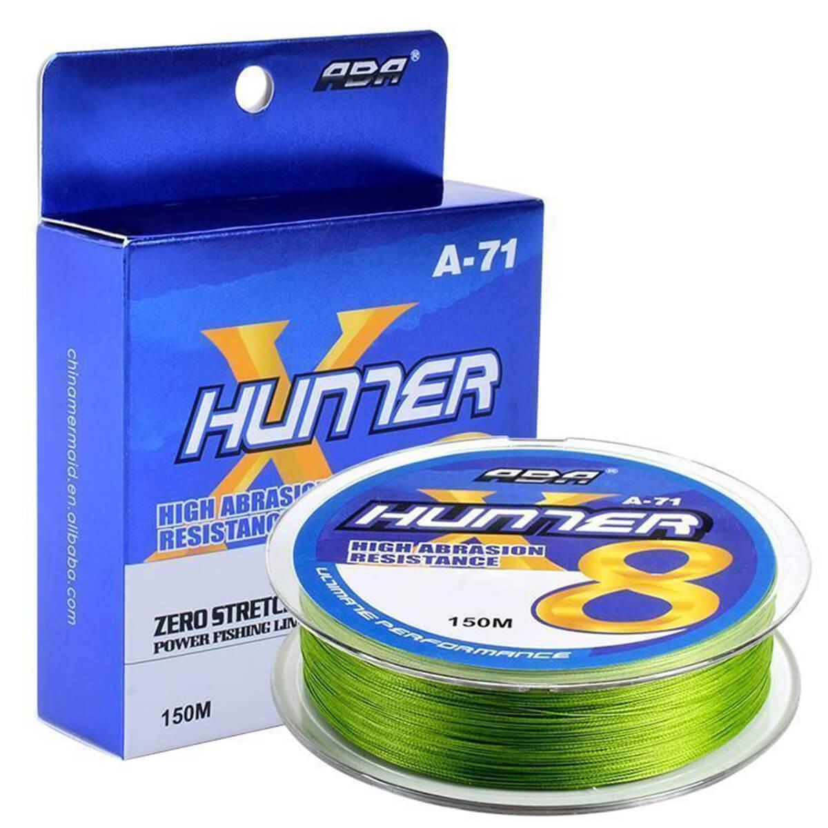 Linha Multifilamento Hunter 8x 0,41mm 24,49kg 150m