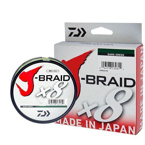 Linha Multifilamento J-Braid x8 Daiwa 8 Fios Trançados 0,15mm 10lb 300m