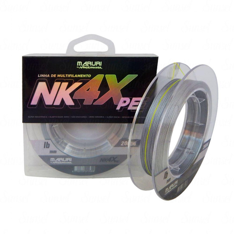 Linha Multifilamento Maruri By Nelson Nakamura 4X 0,26mm 32lb Cinza 200m