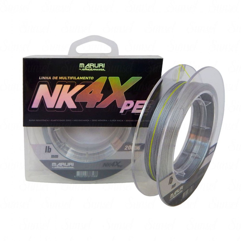 Linha Multifilamento Maruri By Nelson Nakamura 4X 0,44mm 53lb Cinza 200m