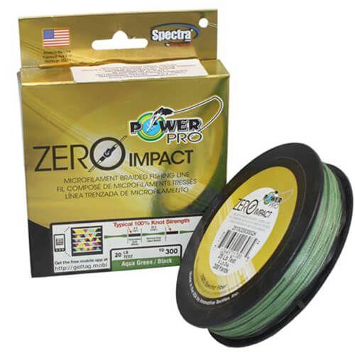 Linha Multifilamento Power Pro 20lb 275m 9kg Zero Impact