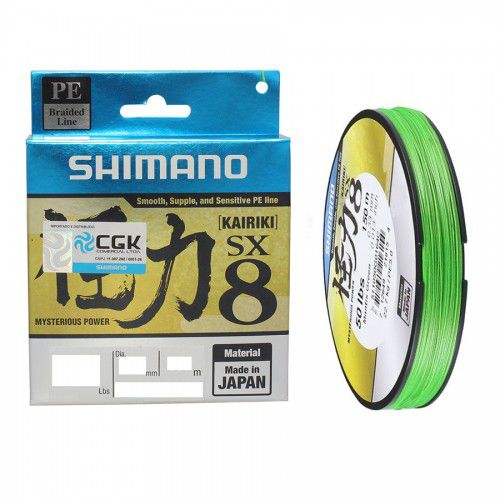 Linha Multifilamento Shimano Kairiki Pe 60lb 150m 27,2kg Cor Verde