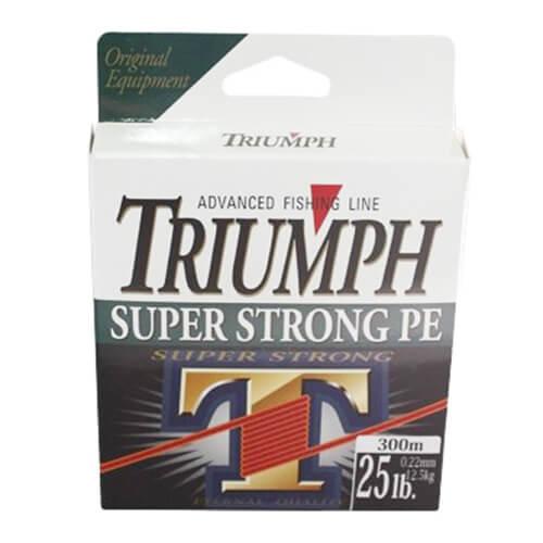 Linha Multifilamento Triumph Super Strong PE 0,35mm 50lb 150m