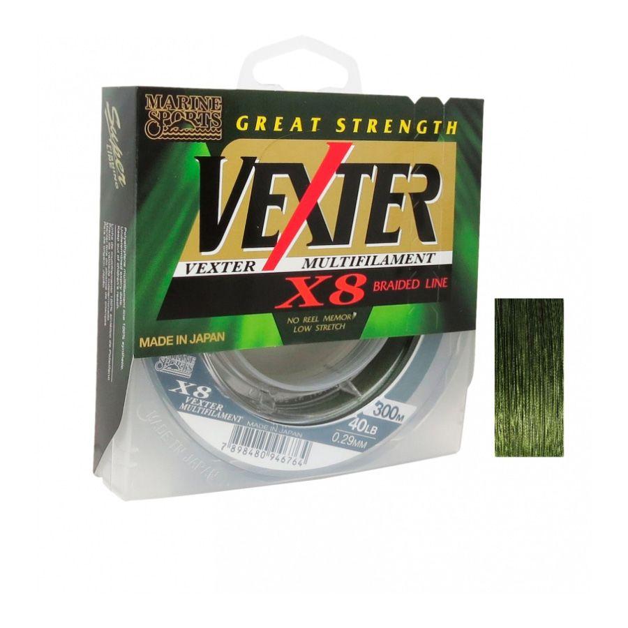 Linha Multifilamento Vexter X8 Verde Marine Sports 20lb 150m